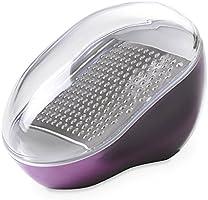 Rallador de queso de diseño Omada con hoja de acero inoxidable extraíble y tapa de frescura, apto para lavavajillas,...
