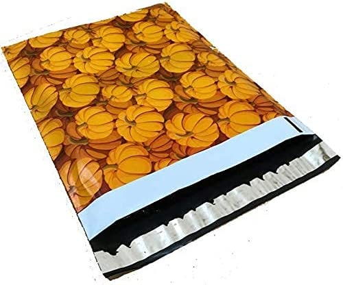 3 pack of NEW before selling 10x13 - Fall Mailers Printed Shi Pumpkin Cheap bargain Designer Poly