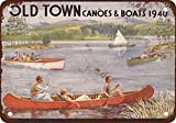 Toddrick 1940 Old Town Canoes Boats Tin Chic Sign Vintage Style Cuisine rétro Bar Pub Café Coffee Shop Décor 8'x 12'