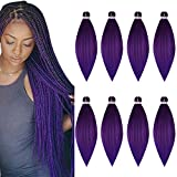 Pre Stretched Braiding Hair 8 Pack/Lot Braids 26 Inch Long Itch Free...