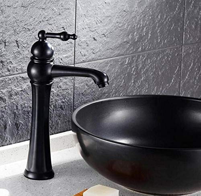 Mischbatterien Wasserfall Mischbatterie Messing Einlochmontage Antike Schwarze Waschtischarmaturen Wasserhahn