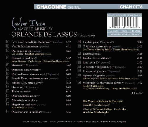 Lassus: Laudent Deum (Sacred Music By Orlande De Lassus)
