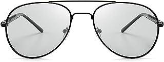 クラシック男性用ドライビング偏光サングラス色変化メタルサングラス屋外レトロデイナイトサングラスUv400保護