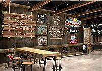 写真の壁紙3D壁画コーヒーショップヴィンテージレンガ壁背景壁現代のHdポスター大きな壁のステッカーツーリング壁アート装飾壁の装飾-137.8x98.4inch