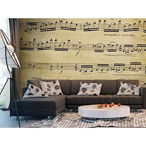 Fotobehang Fotobehang Muzieknoten Wanddecoratie Poster Kunst Verwijderbare muurposter Muurstickers-430x300cm(169.3by118.1in)