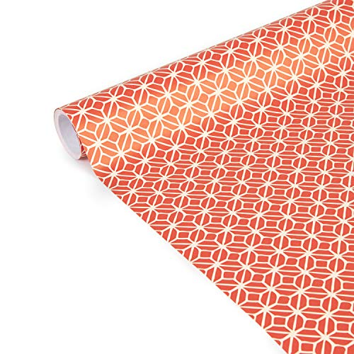 Clairefontaine 223863C - Rolle Geschenkpapier Excellia Tiny Rolls, 5m x 35 cm, 80g, 1 Rolle, Viereck Rot