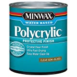 Minwax 244444444 Minwaxc Polycrylic Water Based Protective Finishes, 1/2 Pint, Semi-Gloss