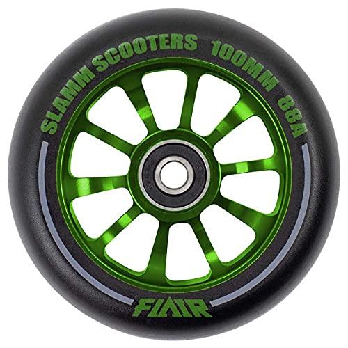 Slamm Scooters Flair 2.0 Wheels Ruedas de patín, Adultos Unisex, Green (Verde), 100 mm