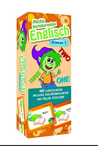 Karteibox Englisch Klasse 1: mit 400 farbigen Karteikarten und tollen Stickern