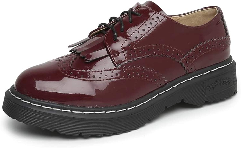LL STUDIO Womens' British Brogue Tassels Oxford shoes