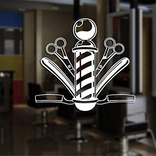 58x62 hombres barbería pegatina nombre sello pan calcomanía corte de pelo maquinilla de afeitar póster vinilo pared arte calcomanía decoración ventana decoración Mural