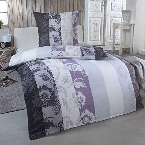 DreamHome 2 teilige kuschelige Baumwolle Soft Fein-Biber Bettwäsche 135x200 + 80x80 Kissenbezug, warme Winter Bettbezug für Bettdecken, Größe:135x200 + 80x80, Design - Motiv:Design 2