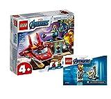 Collectix Lego Set - Marvel Avengers Iron Man vs Thanos 76170 + Ironman y Dum-E (bolsa de plástico) 30452