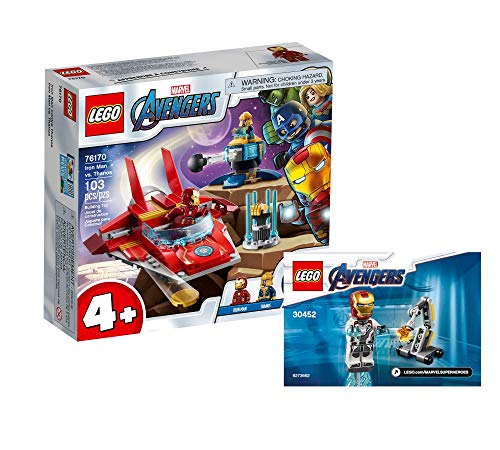 Collectix Lego Set - Marvel Avengers Iron Man vs Thanos 76170 + Ironman y Dum-E (bolsa de plástico) 30452