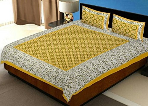 JAIPUR PRINTS 100% Cotton Comfort Rajasthani Jaipuri Traditional King Size 1 Double...