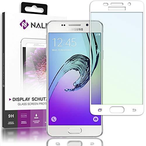 NALIA Cristal Templado Compatible con Samsung Galaxy A5 2016, Vidrio Blindado Película Protectora Display Cobertura, 9H Dureza Protector de Pantalla Tempered-Glass, Color:Blanc