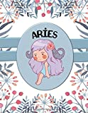 Aries: Cute Chibi Student Education Planner And Horoscope Tracker | Track Your Zodiac And Your School | 8.5 x 11 inches | 120 pages