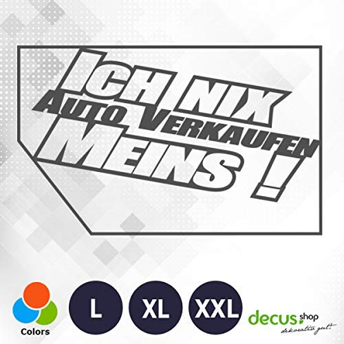 Decus ICH NIX Auto MEINS 2013 // sticker OEM JDM Style sticker XL (ca. 29x18 cm) grijs