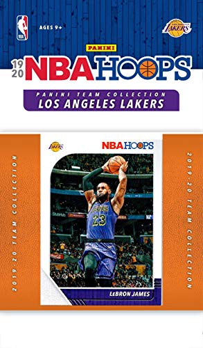 Los Angeles Lakers 2019 2020 Hoops Factory Sealed 10 Karten-Team-Set mit Lebron James, Lonzo Ball, Kyle Kuzma und Anthony Davis Plus