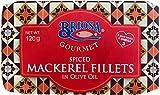Briosa Gourmet - Filete de Caballa en Aceite de Oliva Virgen Extra picante - Producto de Portugal - Paquete de 5 x 120 gr