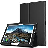 MoKo Case Comaptible with Lenovo Tab 4 / Tab 4 Plus 10' - Ultra Compact Slim Folding Stand Cover Case with Auto Wake & Sleep fit Lenovo Tab 4 / Tab 4 Plus 10.1 Inch HD Tablet 2017 Release, Black