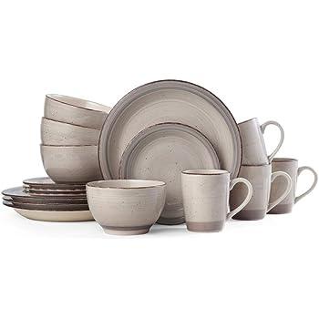 Pfaltzgraff Sadie 16-Piece Dinnerware Set, Cream
