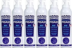 Lightweight, Mild Smelling Antiseptic Foam; VALUE PACK Reduces Bacteria and Germs on Skin No oily or smelly residue after use, leaves your hands feeling clean and soft Made in the USA with 62% v/v Ethyl Alcohol Formula