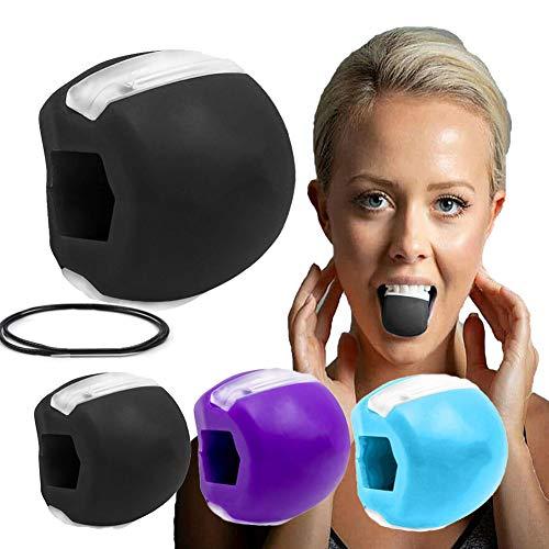 Ejercitador de mandíbula Tóner Facial Tonificador Facial Ejercitador Equipo Tonificador De Cuello Herramienta De Belleza Facial Ejercicio de la Línea de la Mandíbula (Negro)
