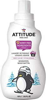 ATTITUDE, Hypoallergenic Baby Laundry Detergent, Non-toxic, ECOLOGO Certified, Sweet Lullaby, 35.5 Fluid Ounce, 35 Loads