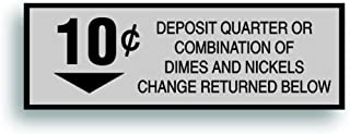Solar Graphics USA Restoration Decal - for Generic Vintage Soda Pop Soft Drink Vending Coin Slot Compatible with Pepsi, Coke Machine - 10 Cent - 1.5 x 4.5 inch
