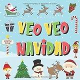 Veo Veo - Navidad!: ¿Puedes Encontrar a Papá Noel, a los Elfos y a los Renos? | ¡Un Divertido Juego de Buscar y Encontrar para Navidad de Invierno, ... a 4 Años! (Veo Veo Libros para Niños de 2-4)