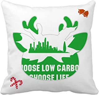 OFFbb-USA Green Homes Civilized People - Funda cuadrada para almohada