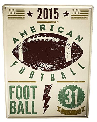 LEotiE SINCE 2004 Blechschild Wandschild 30x40 cm Vintage Retro Metallschild Sport American Football
