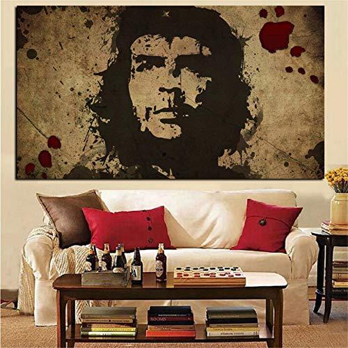 Rjjwai Hd Print Wandkunst Leinwand Charakter Retro Che Guevara Freiheit Poster Wandbild Für Wohnzimmer Nostalgic Old Bar Dekorative Schlafzimmer 60x90cm