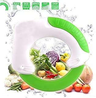 Nolvalz - French Fry Slicer - Stainless Steel Circular Vegetable Choppers Rolling Knife Handheld Pizza Wheel Fruit Slicer Pastry - Juicer Joie Multi Drainers Utensils Cooker Baking Grill Potatoes Fi