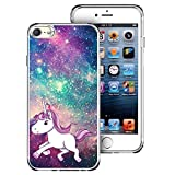 Saicase Soft TPU Case for iPod Touch 7/ Touch 6/ Touch 5 - Unicorn Hipster Galaxy Space Bumper Case Back Cover