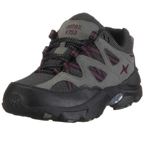 Apex Women's Sierra Trail Runner Hiking Shoe Sneaker, Grey/Purple, 8.5 Extra Wide US