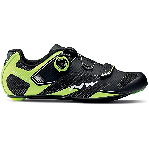 Zapatillas de bicicleta de carretera Northwave Sonic 2 Plus Black / Neon Yellow / White, Tamaño:gr. 44