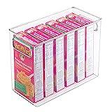 InterDesign Cabinet/Kitchen Binz Cajas organizadoras, cajas de plástico extragrandes, transparente, 1 unidad