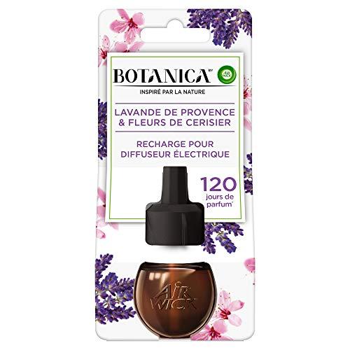 Air Wick Botanica Désodorisant Maison Recharge Electrique Lavande de Provence/Fleurs de Cerisier 19 ml