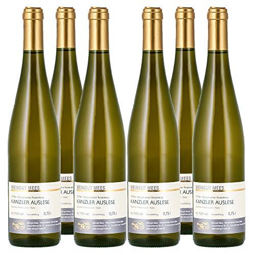 Weingut Mees KANZLER EDELSÜß, SÜß Auslese Prämiert 2018 Weißwein Wein süss Deutschland Nahe Paket (6 x 750 ml) 100% Kanzlerrebe