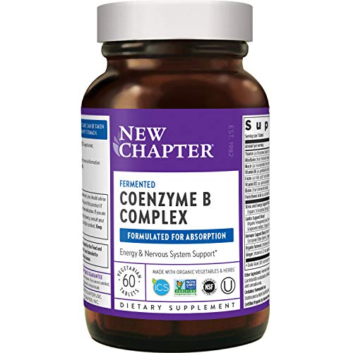New Chapter Vitamin B Complex + Elderberry – Fermented Coenzyme B Complex (Formerly Coenzyme B Food Complex) with Vitamin B12 + Vitamin B6 + Biotin - 60 Ct (Packaging May Vary)