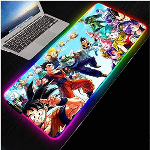 Mouse Pads Dragon Anime RGB Mouse Pad Large Gaming Computer Pad Led Big Mat Keyboard Desk Pc Mause with Backlit(Size_3) 3009004Mm