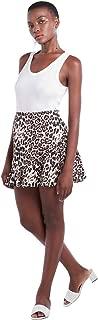 Women's High Waist Printed A-Line Mini Skirt with Ruffled Hem
