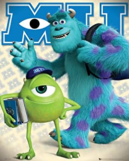 Monsters University Mike and Sully Mini Poster 40x50cm
