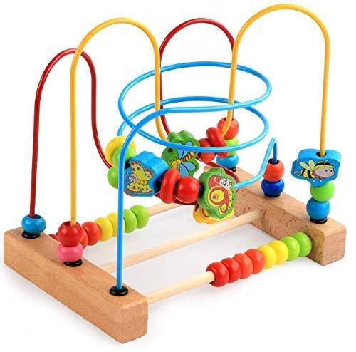 Juguete didáctico para aprendizaje temprano en forma de laberinto colorido de construcción robusta con cuentas de colores. Herramienta educativa para el desarrollo de habilidades en niños pequeños. Pulsometro interactivo de 3 vías.