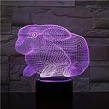 Animal Hippocampus Sensor táctil Cambio de Color Luces Decorativas Niños Niños Baby Kit Luces nocturnas Hippo Night Lights