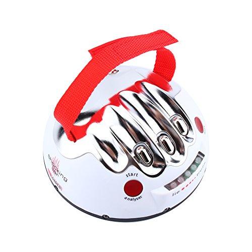 Poligrafo Mini Novedad Juego, poligrafo Adulto para descarga eléctrica Ajustable Encuadernador de juegos Sincero Detector de mentiras para fiestas y relajantes