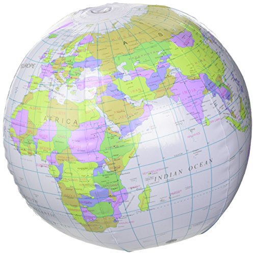 Opblaasbare wereld 40cm - Aufblasbarer Globus