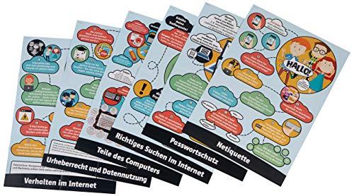Lernposter Computer und Internet: 6 Poster für den Fachunterricht in der Sekundarstufe (5. bis 10. Klasse) (Medienkompetenz entwickeln)
